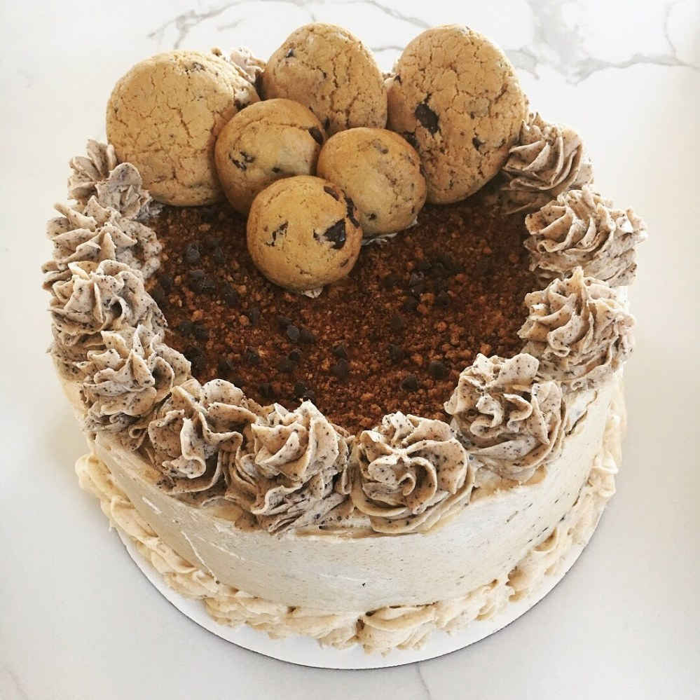 brown butter chocolate chip cookie cake