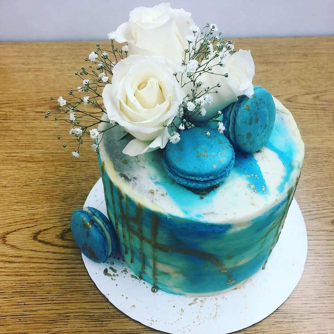 carolina baby shower cake blue cake